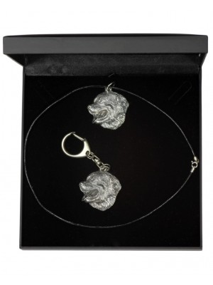 Bernese Mountain Dog - keyring (silver plate) - 1838 - 12473