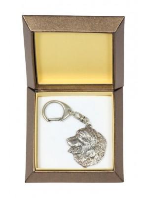 Bernese Mountain Dog - keyring (silver plate) - 2729 - 29848