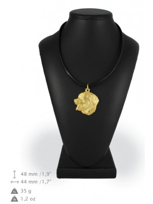 Bernese Mountain Dog - necklace (gold plating) - 1005 - 25533