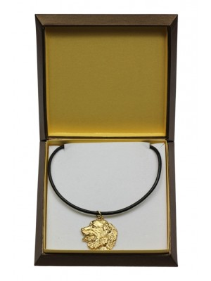 Bernese Mountain Dog - necklace (gold plating) - 3031 - 31667