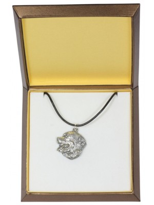 Bernese Mountain Dog - necklace (silver plate) - 2991 - 31134