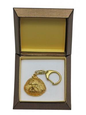 Bichon Frise - keyring (gold plating) - 2451 - 27322
