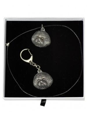 Bichon Frise - keyring (silver plate) - 2042 - 16967