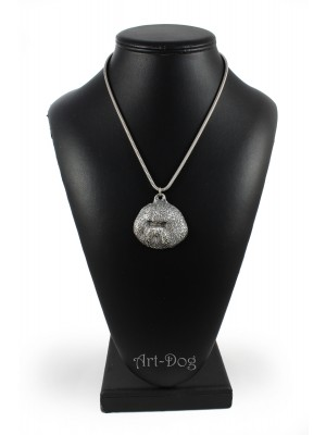 Bichon Frise - necklace (silver cord) - 3257 - 33408