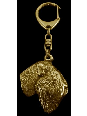 Black Russian Terrier - keyring (gold plating) - 854 - 3961