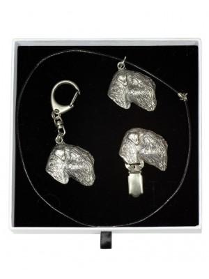 Black Russian Terrier - keyring (silver plate) - 2066 - 17696