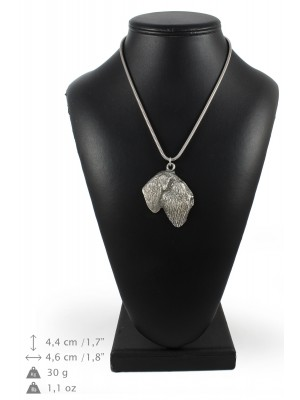 Black Russian Terrier - necklace (silver chain) - 3335 - 34482