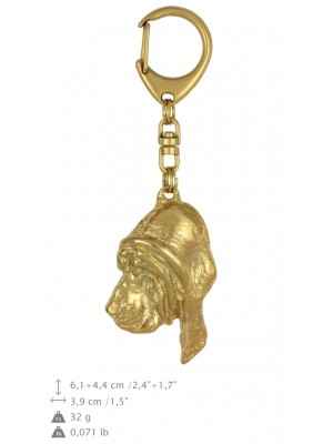 Bloodhound - keyring (gold plating) - 845 - 25202