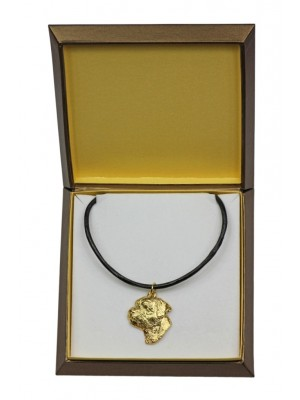 Border Terrier - necklace (gold plating) - 2513 - 27672