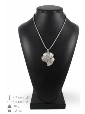 Border Terrier - necklace (silver cord) - 3226 - 33345