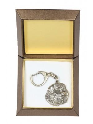 Bouvier des Flandres - keyring (silver plate) - 2726 - 29845