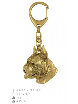 Boxer - keyring (gold plating) - 803 - 25067