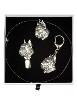 Boxer - keyring (silver plate) - 2073 - 17900