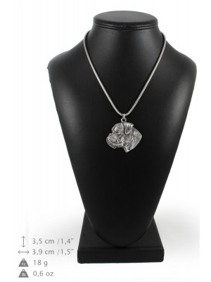 Boxer - necklace (silver cord) - 3175 - 33092