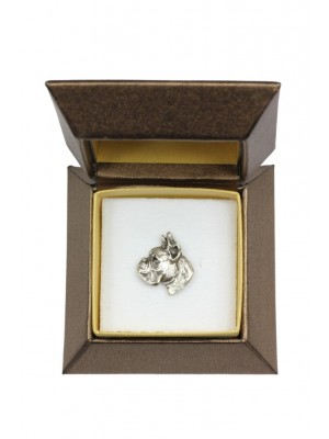 Boxer - pin (silver plate) - 2635 - 28916