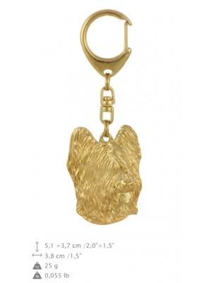 Briard - keyring (gold plating) - 778 - 29075