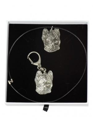 Briard - keyring (silver plate) - 1873 - 13077