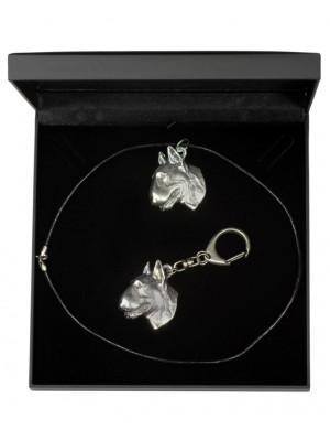 Bull Terrier - keyring (silver plate) - 1787 - 11764