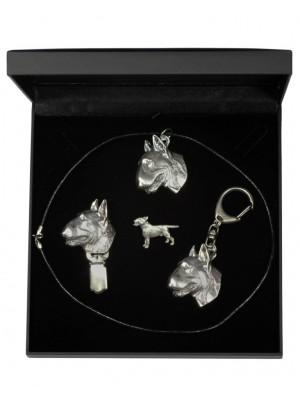 Bull Terrier - keyring (silver plate) - 1905 - 13790