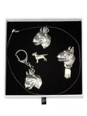 Bull Terrier - keyring (silver plate) - 2082 - 18187
