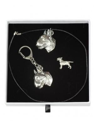 Bull Terrier - keyring (silver plate) - 2099 - 18680