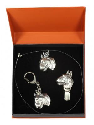 Bull Terrier - keyring (silver plate) - 2261 - 22943