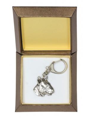 Bull Terrier - keyring (silver plate) - 2793 - 29913