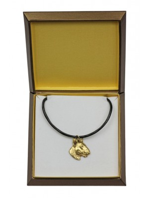 Bull Terrier - necklace (gold plating) - 2515 - 27674