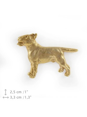 Bull Terrier - pin (gold plating) - 1051 - 7764