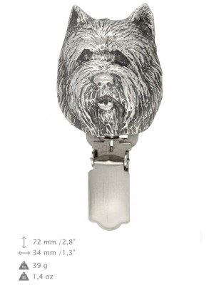Cairn Terrier - clip (silver plate) - 272 - 26312