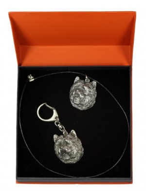 Cairn Terrier - keyring (silver plate) - 2169 - 20426