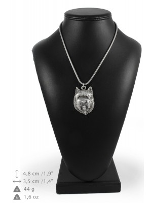 Cairn Terrier - necklace (silver cord) - 3236 - 33366