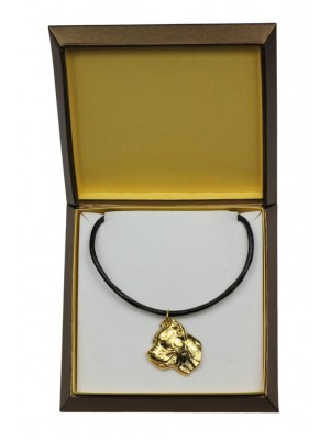Cane Corso - necklace (gold plating) - 2461 - 27620