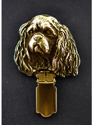 Cavalier King Charles Spaniel - clip (gold plating) - 1024 - 4473