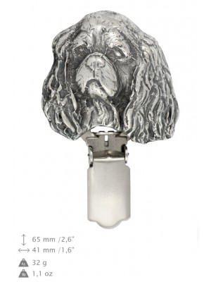 Cavalier King Charles Spaniel - clip (silver plate) - 287 - 26360