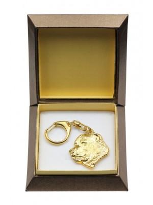 Central Asian Shepherd Dog - keyring (gold plating) - 2875 - 30541