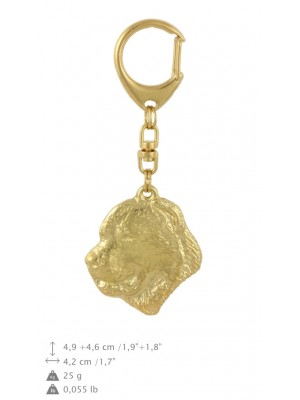Central Asian Shepherd Dog - keyring (gold plating) - 862 - 30084