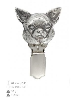Chihuahua - clip (silver plate) - 297 - 26431