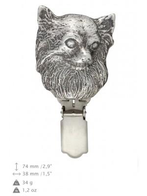Chihuahua - clip (silver plate) - 691 - 26484