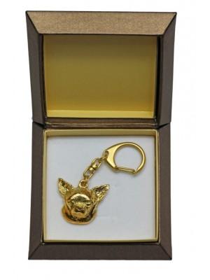Chihuahua - keyring (gold plating) - 2439 - 27310
