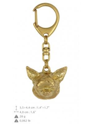 Chihuahua - keyring (gold plating) - 867 - 25252