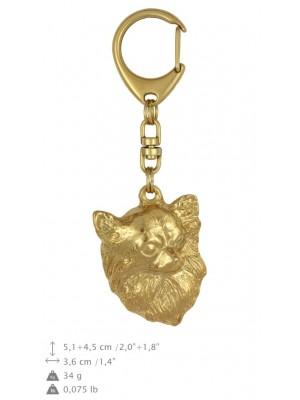 Chihuahua - keyring (gold plating) - 879 - 25272