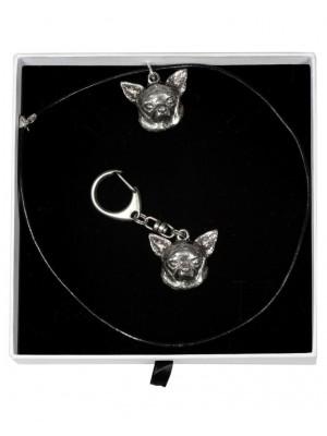 Chihuahua - keyring (silver plate) - 2005 - 16037