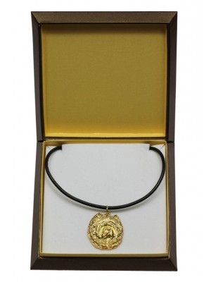 Chow Chow - necklace (gold plating) - 3027 - 31663