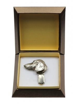 Dachshund - clip (silver plate) - 2556 - 28137