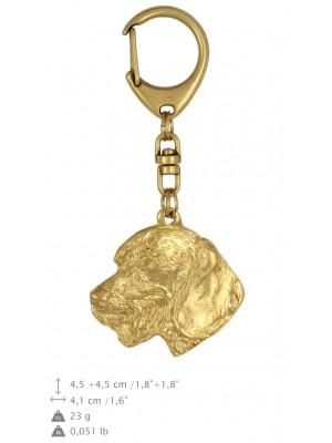 Dachshund - keyring (gold plating) - 844 - 25192