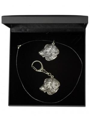 Dachshund - keyring (silver plate) - 1830 - 12372