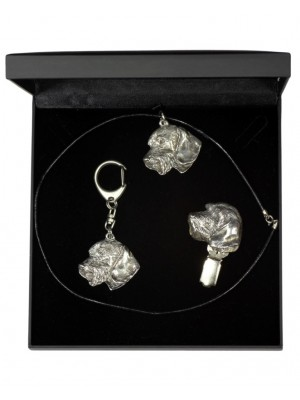 Dachshund - keyring (silver plate) - 1862 - 12826