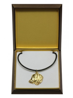 Dachshund - necklace (gold plating) - 3063 - 31699