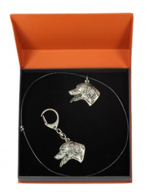 Dalmatian - keyring (silver plate) - 2120 - 19197